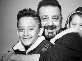 Superstar Sanjay Dutt shared an adorable picture with his twins Shahraan and Iqra Dutt from his recent photo shoot. The actor missed on some of the most valuable moments of his life while his kids were growing up as he served his tenure in jail.