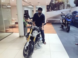 Little Super Star Simbu at BMW Motor in Chennai.