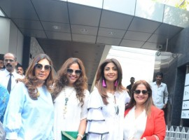 Actress Shilpa Shetty spotted at Kiran Bawa birthday lunch party in Bandra.