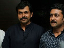 Karthi, Suriya spotted at Theeran Adhigaram Ondru Premiere Show.