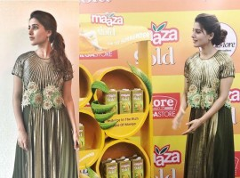 South Indian Actress Samantha Akkineni launches Maaza Gold in Bangalore.