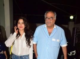 Jhanvi and Boney Kapoor at special screening of ALTBalaji's Bose: Dead/Alive.