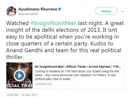 Ayushmann Khurrana took to Twitter to share,