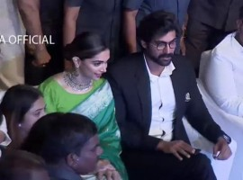 Actress Deepika Padukone and Rana Daggubati spotted at Social Media Summit and Awards.