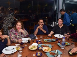 Randhir Kapoor with sister Rima Jain at Izaya.