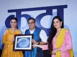 Actress Shraddha Kapoor on Tuesday was felicitated with Youth Icon of NextGen of Indian Cinema accolade at the 48th International Film Festival of India (IFFI) here. Ace filmmaker Subhash Ghai gave away the honour to the actress, who joined the movie mela to inaugurate Bioscope Village -- a part of ongoing IFFI.