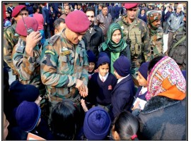 Mahendra Singh Dhoni turns Good Samaritan, motivates Srinagar students in surprise visit.