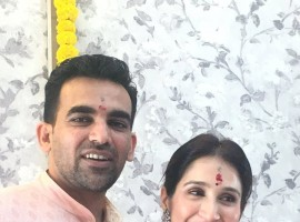 Senior Indian cricketer Zaheer Khan ties the knot with actor Sagarika Ghatge.