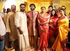 Gayathri Raguramm, Sarathkumar, Raadhika Sarathkumar, Shakthi at Namitha and Veerandra wedding.