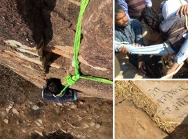 The body of a 40-year-old man was found hanging from the outer walls of Nahargarh Fort here on Friday morning, with the message