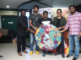 Semma Botha Aagatha audio launch event held at Radio Mirchi in Chennai. Celebs like Atharvaa, Yuvan Shankar Raja, Badri Venkatesh and others graced the event.