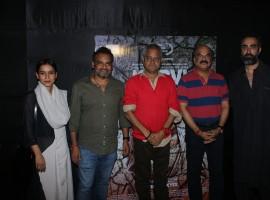 Tillotama Shome, Nila Mahdab Panda, Sanjay Mishra, Akshay Kumar Parija and Ranvir Shorey at a special screening of their film, Kadvi Hawa at Lightbox.
