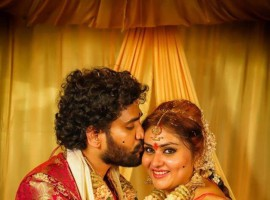 South Indian Actor Namitha ties the knot with producer Veerandra in Tirupati.