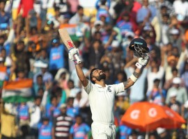 Indian Virat Kohli recorded the most number of international cricket centuries in a year by a captain -- after notching his 19th Test ton against Sri Lanka during their second match at the Vidarbha Cricket Association Stadium here on Sunday.