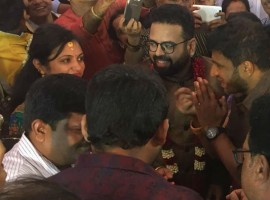 Puneeth Rajkumar at Santhosh Anandram engagement