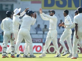 Captain Dinesh Chandimal (53 not out) was waging a lone battle as he was unbeaten alongwith Suranga Lakmal (19 not out), with Sri Lanka trailing by 260 runs after conceding a first-innings lead of 405 runs to the hosts.