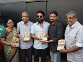 South Indian Actor Ram Charan Teja releases Punadirallu book written on Megastar Chiranjeevi's film career by Gowtham Ravuri.