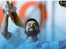 The India captain reached the milestone in 105 innings -- the same number as his England counterpart Joe Root. To go with that, Kohli also managed to cross the barrier of 16,000 international runs across all formats. Kohli reached the mark in typical style, smashing Sri Lanka pacer Suranga Lakmal for a boundary shortly after lunch. Playing in his 63rd Test, the 29-year-old from Delhi became the 11th Indian batsman to achieve the milestone, and that too in front of his home fans, when he reached 25 during India's first innings.