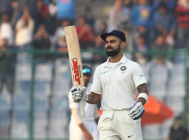 Captain Virat Kohli joined Sachin Tendulkar and Virender Sehwag in sharing the record of most number (six) of double centuries for India in Test cricket on the second day of the third and final Test against Sri Lanka here on Sunday.