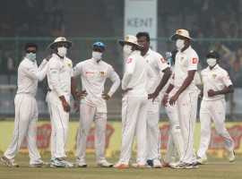 The air quality in the capital deteriorated to an alarming level on a hazy Sunday, forcing Sri Lankan cricketers to cover their faces with anti-pollution masks in a Test match at Delhi's Feroz Shah Kotla stadium. Amid hazy conditions, the second session of the third and final Test match between India and Sri Lanka was halted for few minutes.