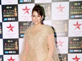 Manisha Koirala poses for the cameras at the Star Screen Awards at Bandra Kurla Complex in Mumbai.