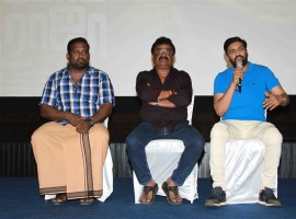 Robo Shankar, VTV Ganesh, Santhanam spotted spotted at Sakka Podu Podu Raja press meet.