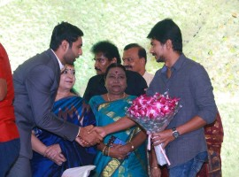 Udhayanidhi Stalin at Aadhav and Vinodhnie wedding reception.