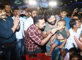 Thiruttu Payale 2 Movie Success Celebration With Audience at Kamala Cinemas. Celebs like Bobby Simha, Prasanna, Susi Ganesan, Kamala Cinemas Owner CT Ganesan at the event.