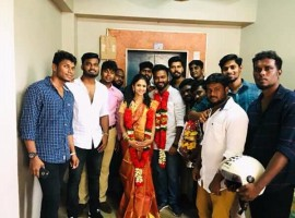 Popular Tamil TV anchor Manimegalai married her boyfriend Hussain on Wednesday in Chennai.