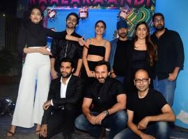 Shobita Dhulipala, Shivam Patil, Isha Talwar, Deepak Dobriyal, Ashi Dua, Kunaal Roy Kapur, Akshay Oberoi, Saif Ali Khan and Akshat Verma spotted at Kaalakaandi Trailer Launch.