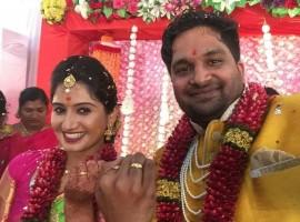 Pavan Wadeyar and Apeksha Shah Engagement images.