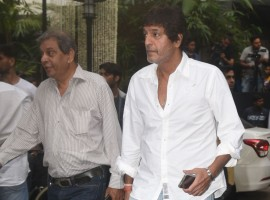 Chunky Pandey spotted at Shashi Kapoor's Prayer meet at Prithvi Theatre in Mumbai on December 7, 2017.