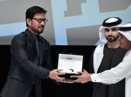 The 14th Dubai International Film Festival kicked off Wednesday and the red carpet was graced by top western, Arab and Bollywood talent. Irrfan Khan was honoured for his