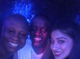 South Indian actress Raai Laxmi meets with Popular American singer-rapper Akon.