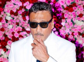 Jackie Shroff poses for photographers during 'Lux Golden Rose Awards 2017' at Yash Raj Studios in Mumbai.