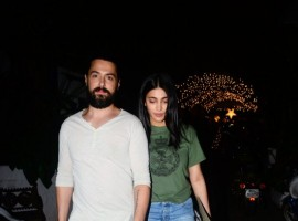 Actress Shruti Haasan spotted with boyfriend Michael Corsale at Party Hunters in Bandra.