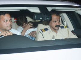 Little AbRam joined the party with dad Shah Rukh Khan for Rani Mukerji's daughter Adira birthday party.