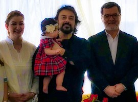 Singer-composer Adnan Sami along with his wife Roya and daughter Medina met Afghanistan Vice President Sarwar Danish. Adnan says he discussed his upcoming film