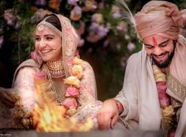 Virat Kohli and Anushka Sharma wedding pics.
