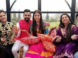 Anushka Sharma glows in Mehendi ceremony with husband Virat Kohli.