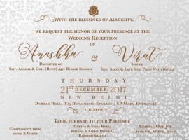 Actress Anushka Sharma and Virat Kohli's Wedding Reception to be held in Delhi On December 21.
