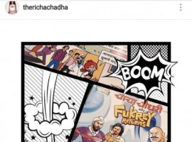 Fukrey Returns launched a comics series in association with the legendary Chacha Chaudhary, which has been tickling everyone's funny bones just like the film. Diamond Comics has launched a comic series which is a collaboration of the iconic Chacha Chaudhary and Fukrey Returns comic providing a hilarious overdose of entertainment. When Richa Chadha took to Instagram to share her thoughts on the comics, none other than Ranveer Singh appreciated the comics. Richa Chadha had posted on Instagram,