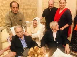 Bollywood legend Dilip Kumar, who turned 95 on Monday, cut the birthday cake in the presence of his family members including wife Saira Banu and close friends.