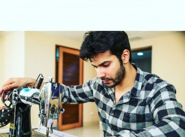 Actor Varun Dhawan has started shooting for the upcoming film