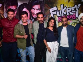 Fukrey Returns has released to an exceptional response from the audience and the Fukrey gang came out last evening to celebrate the success with their near and dear ones. Fukra squad had a fun night at a restaurant in Mumbai, Arth, to raise a toast the overwhelming response the film has been garnering across quarters.