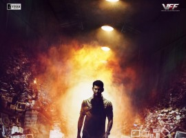 Here is the first look poster of Tamil movie Irumbu Thirai starring Vishal in the lead role. Directed by P. S. Mithran and produced by Vishal under Vishal Film Factory banner.