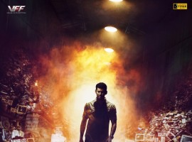 Here is the first look poster of Telugu movie Abhimanyudu starring Vishal in the lead role. Directed by P. S. Mithran and produced by Vishal under Vishal Film Factory banner.