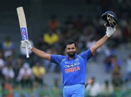 Skipper Rohit Sharma led from the front with his third ODI double century to help India post a mammoth 392/4 against Sri Lanka in the second One-day International at the Punjab Cricket Association I.S. Bindra Stadium here on Wednesday.