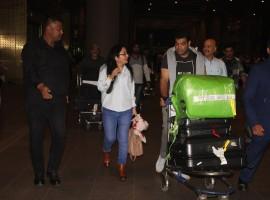 Ajay Kumar Sharma, Ashima and Ajay Kumar spotted at Mumbai Airport.