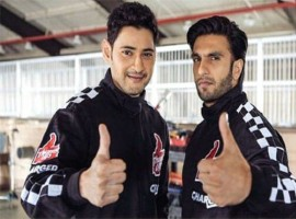 Mahesh Babu and Ranveer Singh look dashing together on the set of Thums Up Charged soft drink ad.